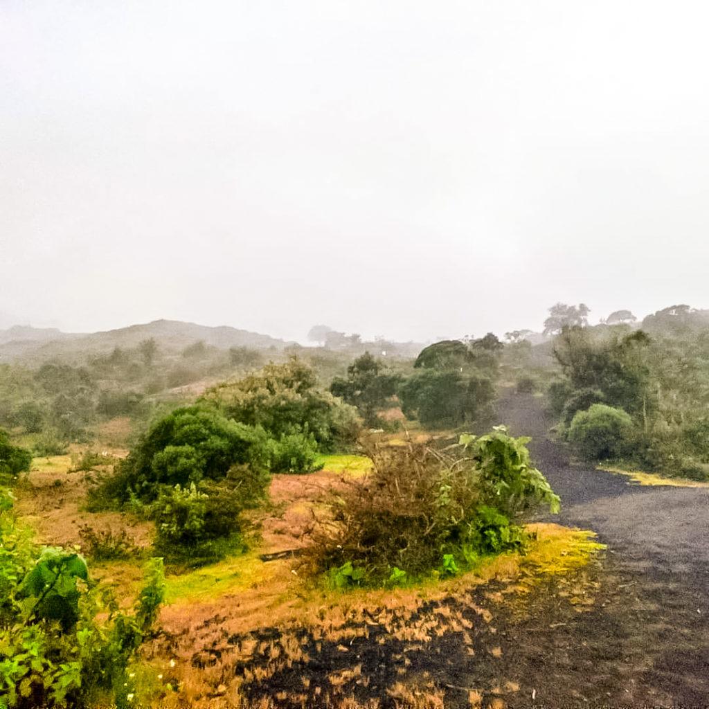 Вулкан Пакая подъём