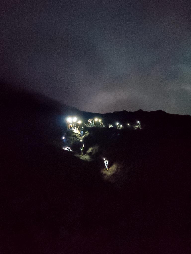 Вулкан Пакая ночь