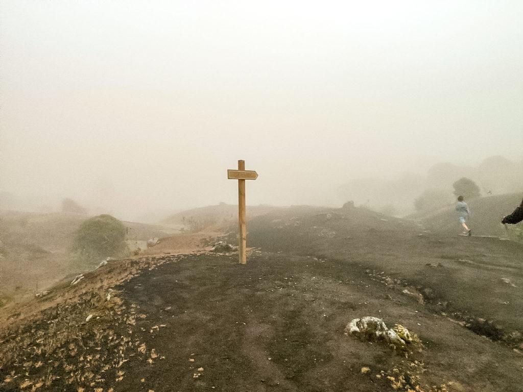 Вулкан Пакая туман
