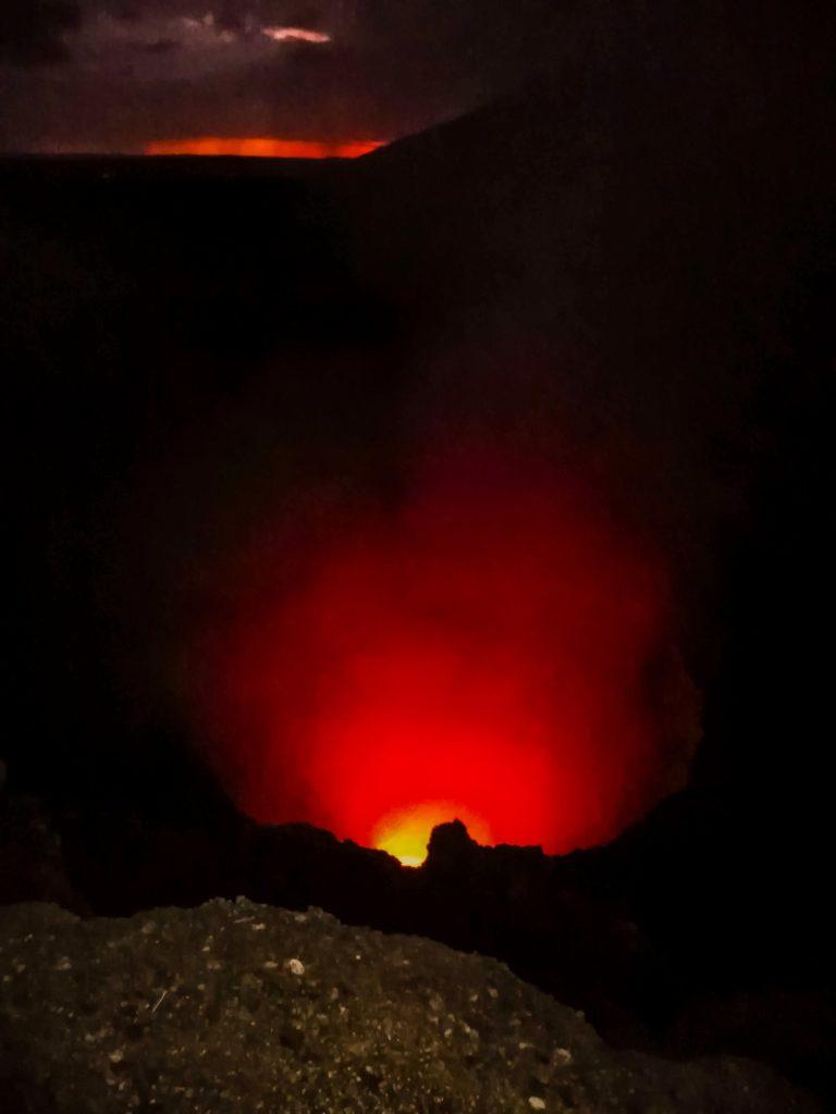 Вулкан Масая лава
