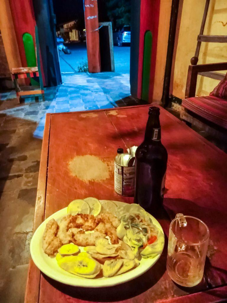 типичный ужин в Никарагуа