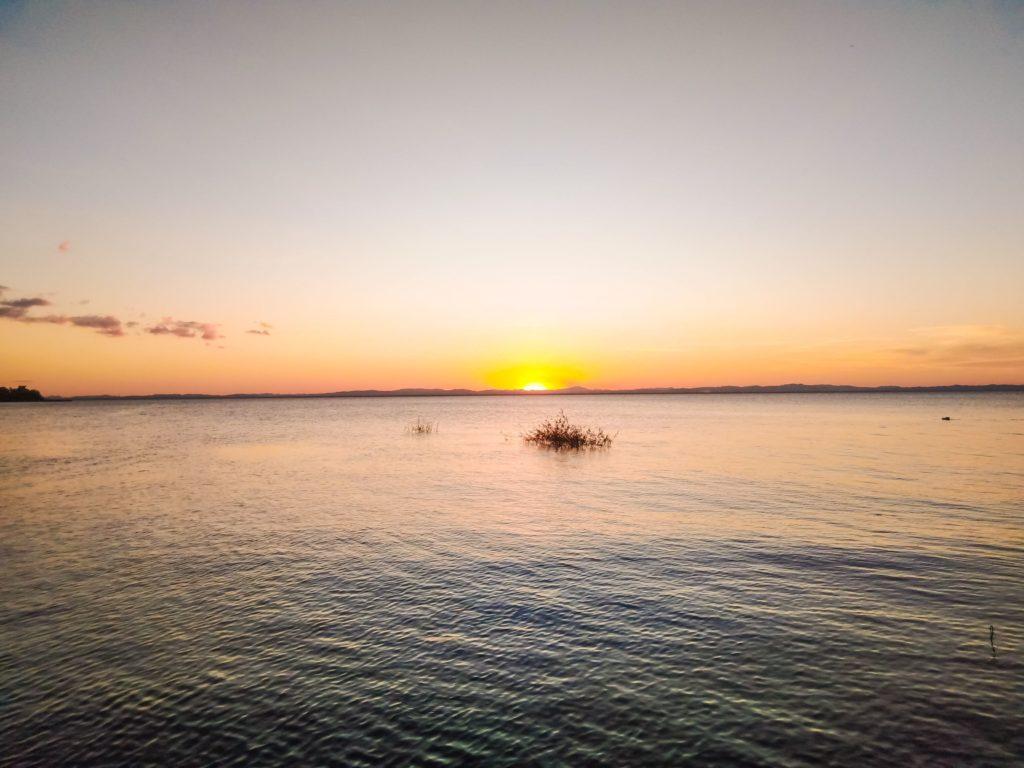 Закат над озером Никарагуа