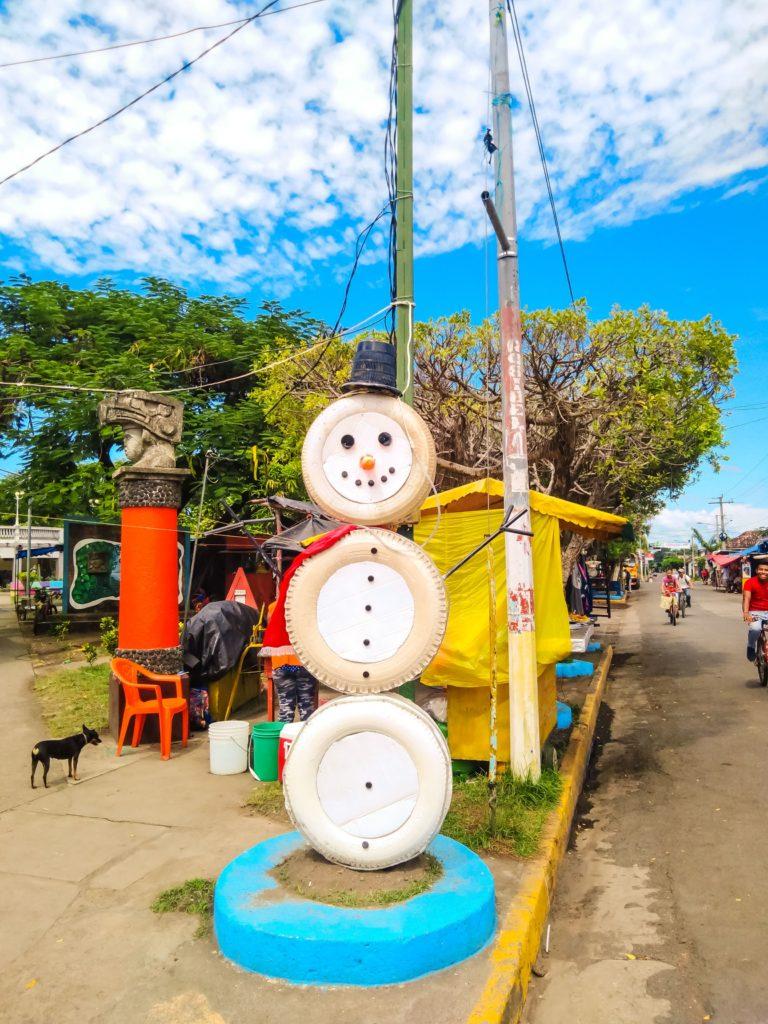снеговик в Никарагуа