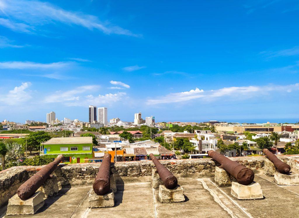 Пушки в крепости Сан-Фелипе-де-Барахас