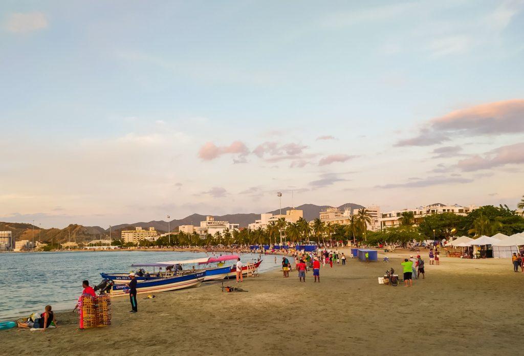 Санта-Марта городской пляж